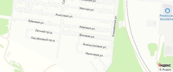 Вязовая улица на карте Барнаула с номерами домов
