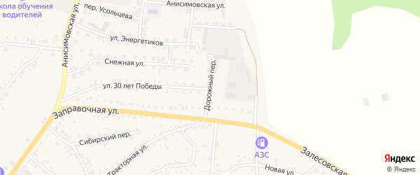Дорожный переулок на карте поселка Тальменки с номерами домов