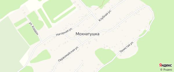 Первомайская улица на карте поселка Мохнатушки с номерами домов