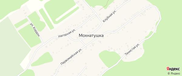Улица Сосновый Бор на карте поселка Мохнатушки с номерами домов