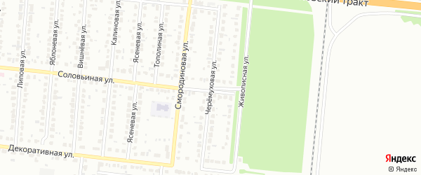 Черемуховая улица на карте Барнаула с номерами домов