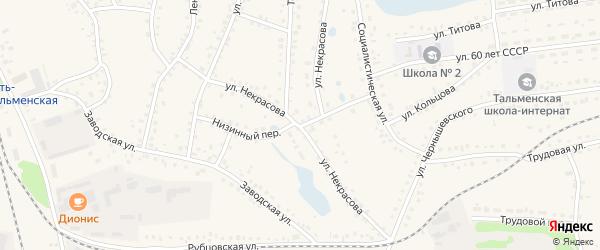 Улица Некрасова на карте поселка Тальменки с номерами домов