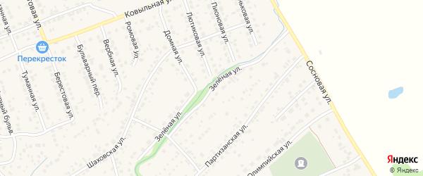 Зеленая улица на карте села Власихи с номерами домов