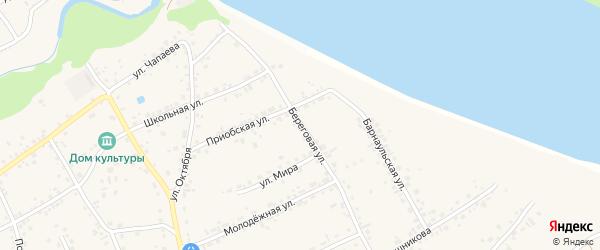 Береговая улица на карте Барнаула с номерами домов