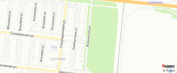 Живописная улица на карте Барнаула с номерами домов