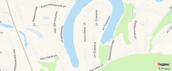 Улица Хомутинка на карте поселка Тальменки с номерами домов