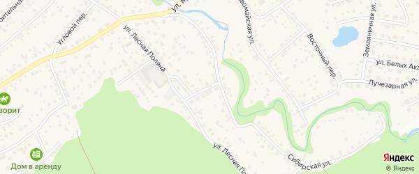 Улица Лесная Поляна на карте села Власихи с номерами домов