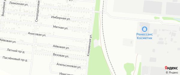 Клюквенная улица на карте Барнаула с номерами домов