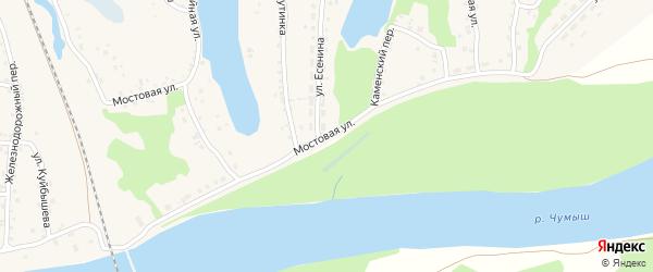 Мостовая улица на карте поселка Тальменки с номерами домов