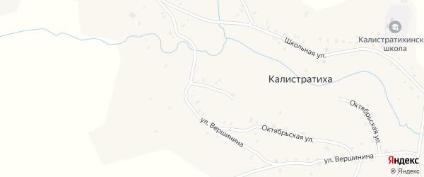 Мельничный переулок на карте села Калистратихи с номерами домов