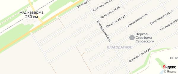 Пятигорская улица на карте Центрального поселка с номерами домов