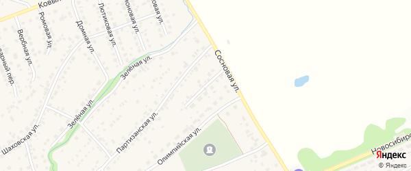 Верхний тупик на карте села Власихи с номерами домов