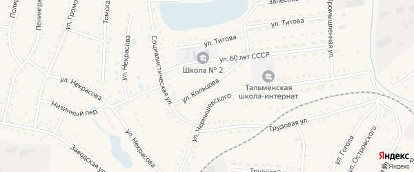 Улица Кольцова на карте поселка Тальменки с номерами домов