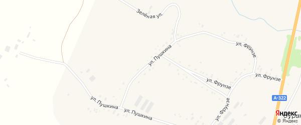 Улица Пушкина на карте села Бураново с номерами домов
