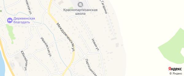 Новая улица на карте села Красного Партизана с номерами домов