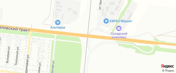 Павловский тракт на карте поселка Новомихайловки с номерами домов