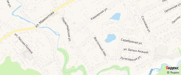 Восточный переулок на карте села Власихи с номерами домов