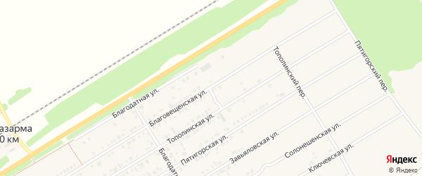 Благовещенская улица на карте Центрального поселка с номерами домов