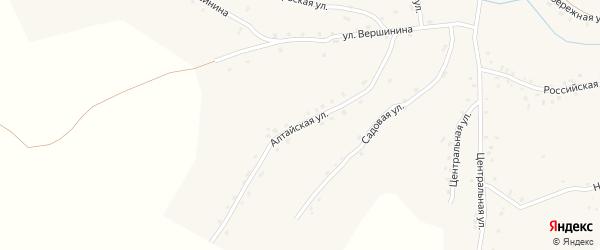 Алтайская улица на карте села Калистратихи с номерами домов