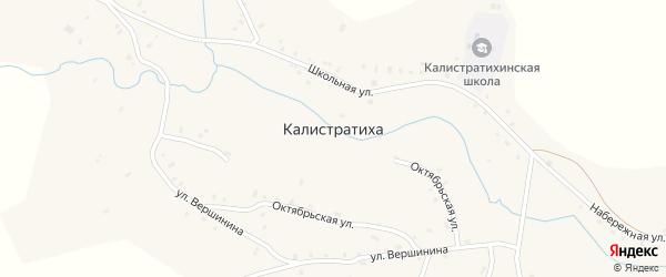 Октябрьский переулок на карте села Калистратихи с номерами домов