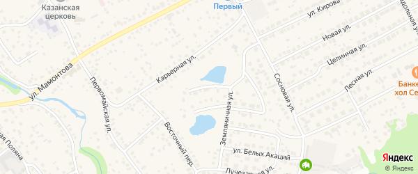 Ежевичная улица на карте села Власихи с номерами домов