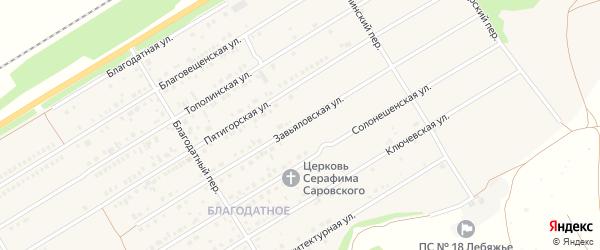 Благовещенский переулок на карте Центрального поселка с номерами домов