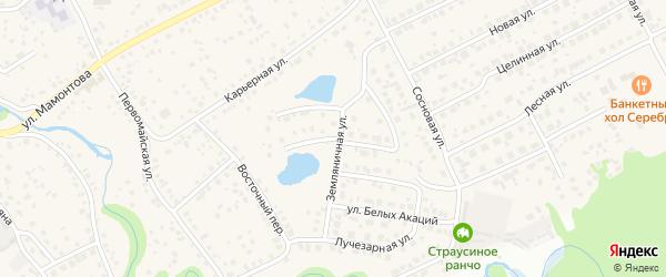 Родниковая улица на карте села Власихи с номерами домов