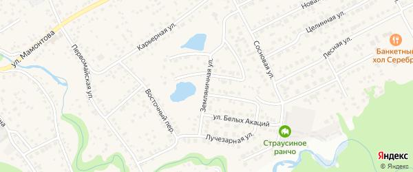 Земляничная улица на карте села Власихи с номерами домов