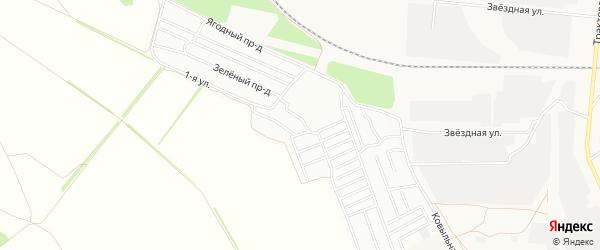 Карта садового некоммерческого товарищества Колоса города Барнаула в Алтайском крае с улицами и номерами домов