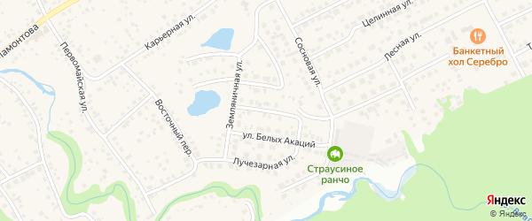 Серебряная улица на карте села Власихи с номерами домов