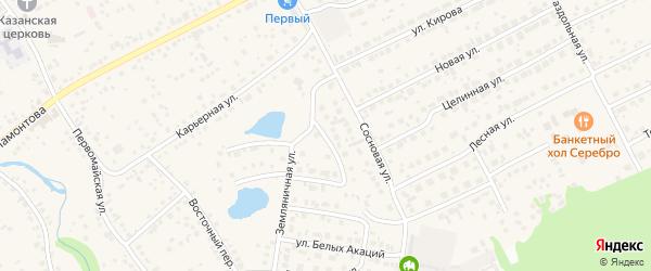 Лучезарная улица на карте села Власихи с номерами домов