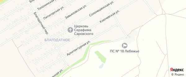 Архитектурная улица на карте Центрального поселка с номерами домов