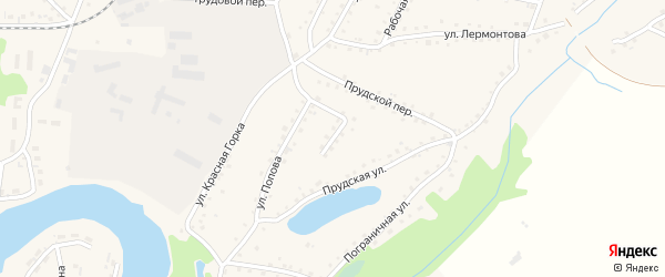 Переулок Попова на карте поселка Тальменки с номерами домов