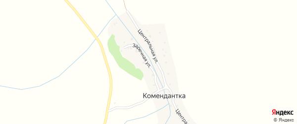 Заречная улица на карте села Комендантки с номерами домов