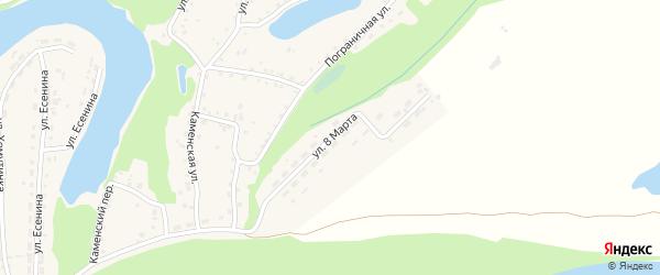 Улица 8 Марта на карте поселка Тальменки с номерами домов