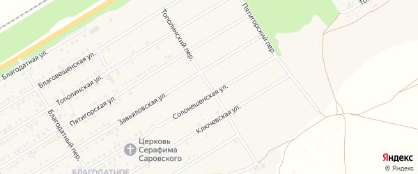 Тополинский переулок на карте Центрального поселка с номерами домов