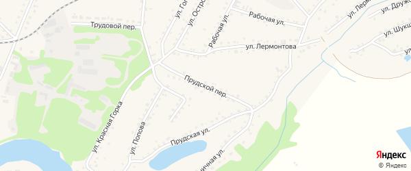 Прудской переулок на карте поселка Тальменки с номерами домов