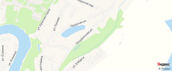 Пограничная улица на карте поселка Тальменки с номерами домов