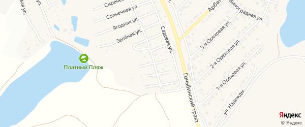 Облепиховая улица на карте территории сдт Озерного с номерами домов