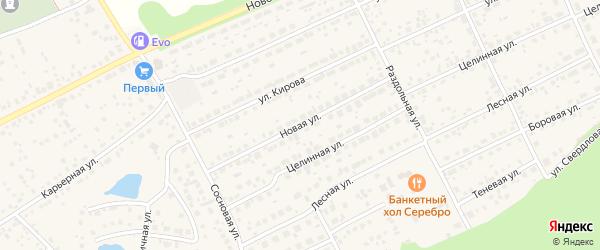 Новая улица на карте Пригородного поселка с номерами домов
