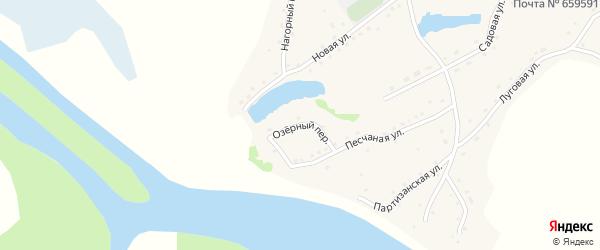 Озерный переулок на карте села Елбанки с номерами домов