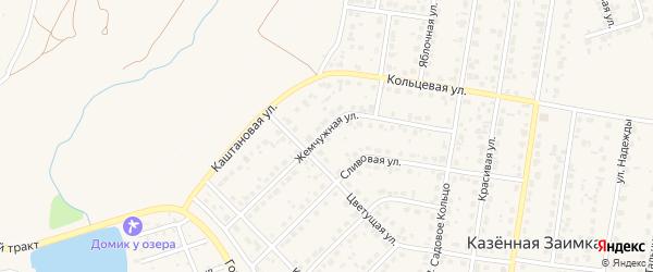 Жемчужная улица на карте поселка Казенной Заимки с номерами домов