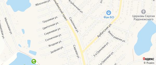 Соколиная улица на карте поселка Казенной Заимки с номерами домов