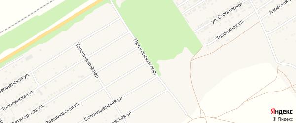 Пятигорский переулок на карте Центрального поселка с номерами домов
