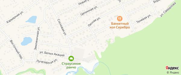 Улица Березовая Роща на карте Пригородного поселка с номерами домов