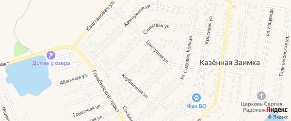 Изумрудная улица на карте поселка Казенной Заимки с номерами домов
