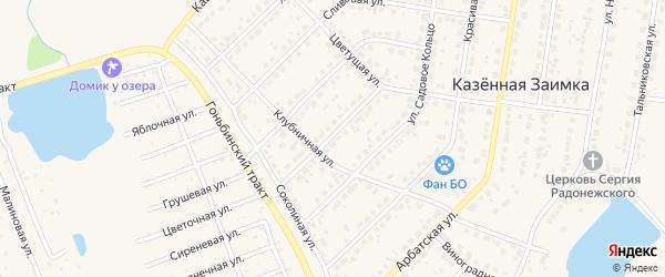 Алмазная улица на карте поселка Казенной Заимки с номерами домов