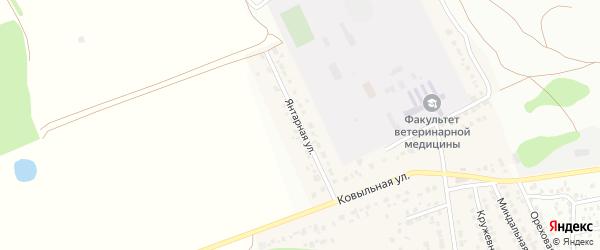 Янтарная улица на карте территории сдт Озерного с номерами домов