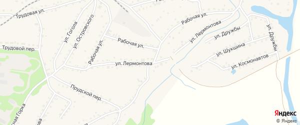 Улица Лермонтова на карте поселка Тальменки с номерами домов