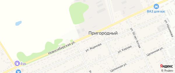 Новосибирская улица на карте Пригородного поселка с номерами домов